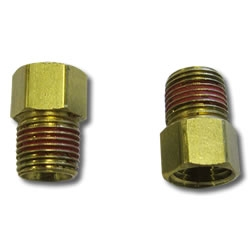 """Wilwood Brake Line Fittings and Adapter 1//8/"""" NPT Male-3//8-24/"""" IF Female Straight"""